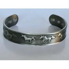 Antique Silver Horse Cuff Bangle